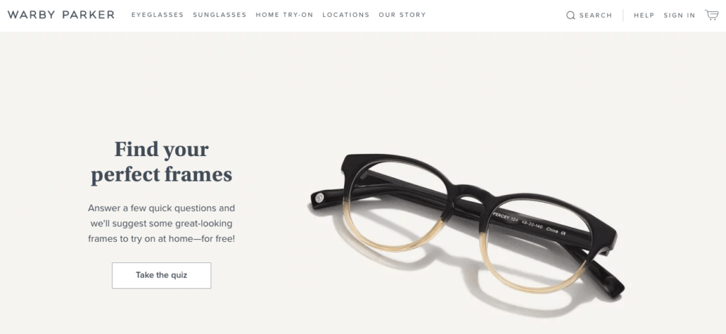 Warby-Parker-Homepage